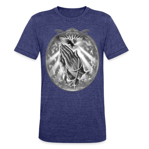 Praying Hands by RollinLow - Unisex Tri-Blend T-Shirt