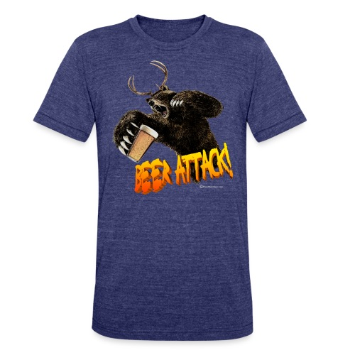 BEER ATTACK! - Unisex Tri-Blend T-Shirt