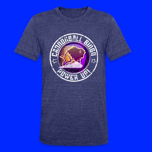Vintage Stampede Power-Up Tee - Unisex Tri-Blend T-Shirt