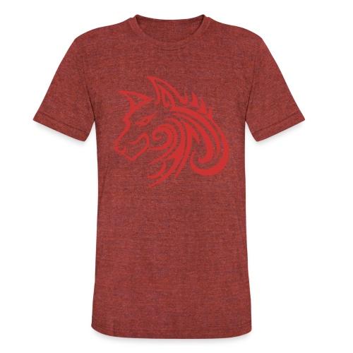 3d31c4ec40ea67a81bf38dcb3d4eeef4 wolf 1 red wolf c - Unisex Tri-Blend T-Shirt