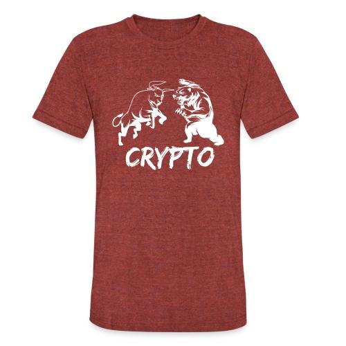 CryptoBattle White - Unisex Tri-Blend T-Shirt