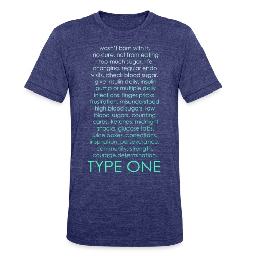 The Inspire Collection - Type One - Green - Unisex Tri-Blend T-Shirt
