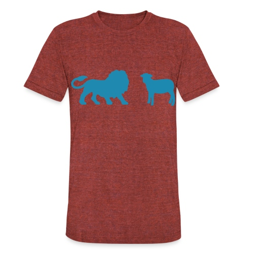 Lion and the Lamb - Unisex Tri-Blend T-Shirt