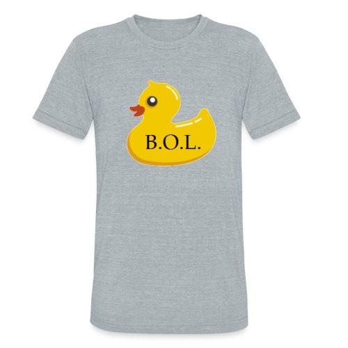Official B.O.L. Ducky Duck Logo - Unisex Tri-Blend T-Shirt