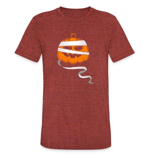 Halloween Bandaged Pumpkin - Unisex Tri-Blend T-Shirt