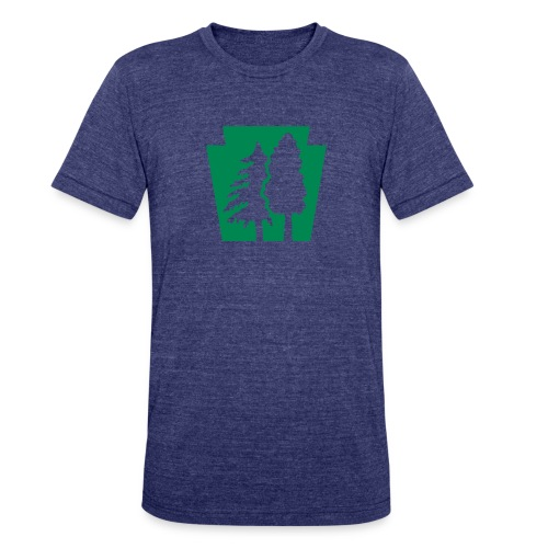 PA Keystone w/trees - Unisex Tri-Blend T-Shirt