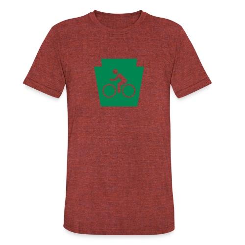 PA Keystone w/Bike (bicycle) - Unisex Tri-Blend T-Shirt
