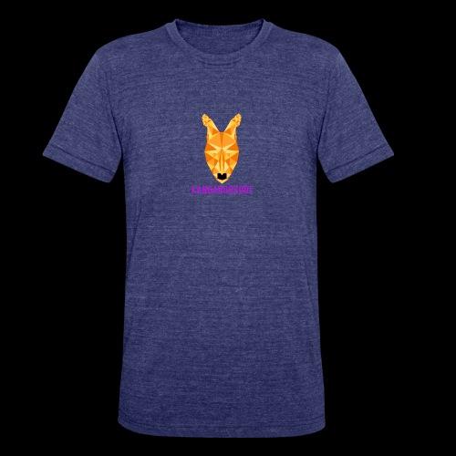 Kangaroozoo1 Logo & Name - Unisex Tri-Blend T-Shirt