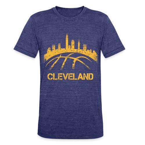 Cleveland Basketball Skyline - Unisex Tri-Blend T-Shirt
