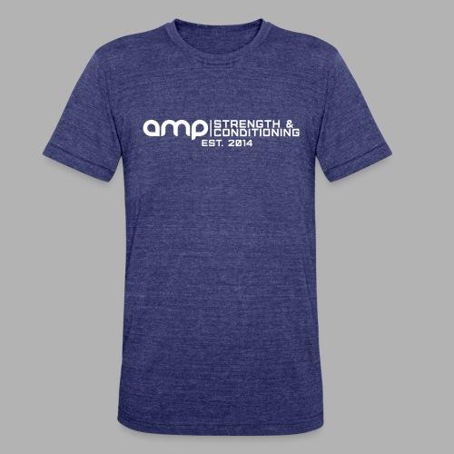 AMP Long Logo EST WHT - Unisex Tri-Blend T-Shirt