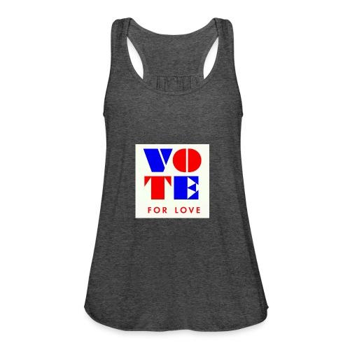 vote4love-sample - Women's Flowy Tank Top by Bella