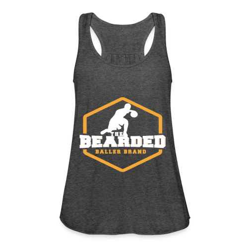 The Bearded Baller Brand White and Gold - Women's Flowy Tank Top by Bella