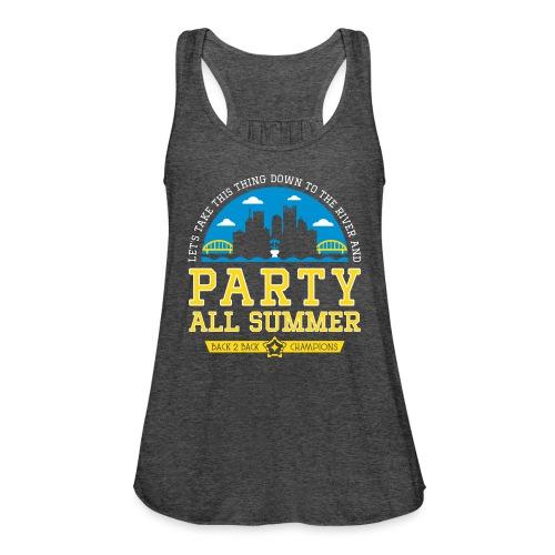 party all summer - Women's Flowy Tank Top by Bella