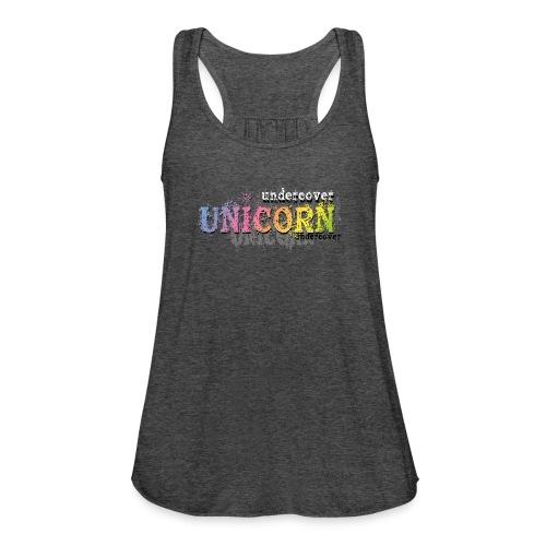 Undercover Unicorn - Women's Flowy Tank Top by Bella