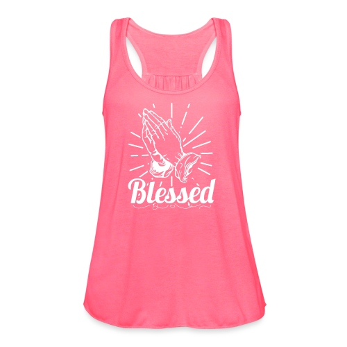 Blessed (White Letters) - Women's Flowy Tank Top by Bella