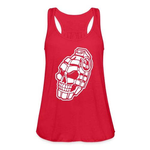Skull Grenade - Women's Flowy Tank Top by Bella