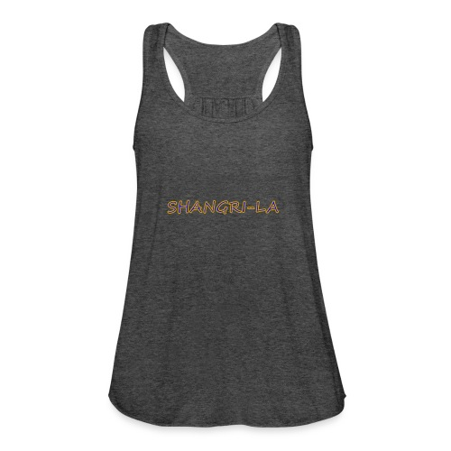Shangri La gold blue - Women's Flowy Tank Top by Bella