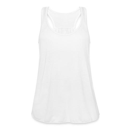 Disc Golf Basket White Print - Women's Flowy Tank Top by Bella