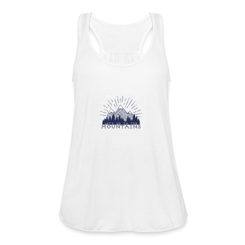 Adventure Mountains T-shirts and Products - Women's Flowy Tank Top by Bella
