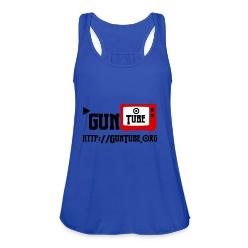 GunTube Shirt with URL - Women's Flowy Tank Top by Bella