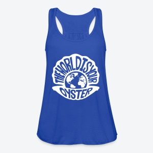 The World Is Your Oyster - Light - Women's Flowy Tank Top by Bella