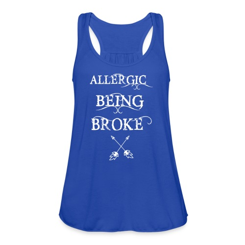 T shirt design1 png allergic - Women's Flowy Tank Top by Bella