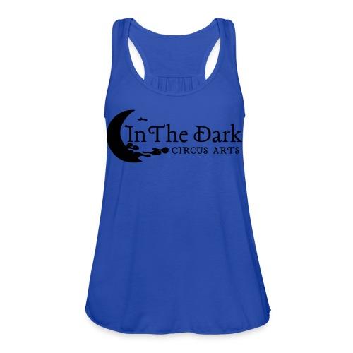 in the dark logo 2 blk - Women's Flowy Tank Top by Bella