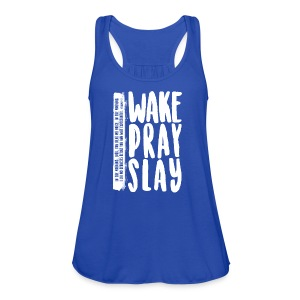 Wake Pray Slay Scripture Tee - Women's Flowy Tank Top by Bella