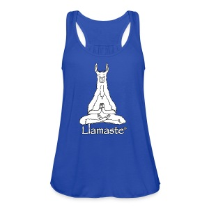 Llamaste White Logo - Women's Flowy Tank Top by Bella