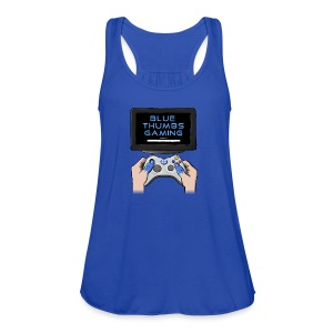 Blue Thumbs Gaming: Gamepad Logo - Women's Flowy Tank Top by Bella