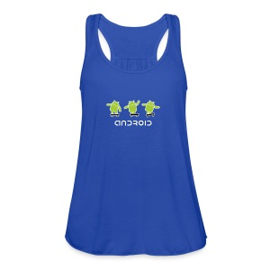 android logo T shirt - Women's Flowy Tank Top by Bella
