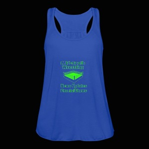 Mid-South Wrestling News Neon/Lime Green - Women's Flowy Tank Top by Bella