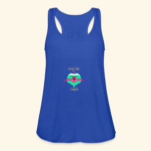 Cool Kat Mech. (Neon Glow) - Women's Flowy Tank Top by Bella