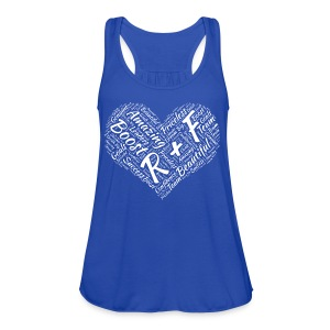 R+F White Heart - Women's Flowy Tank Top by Bella