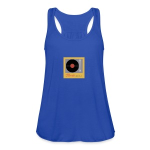 Music Truth Retro Record Label - Women's Flowy Tank Top by Bella