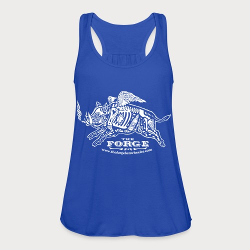 The Forge White Pig 01 - Women's Flowy Tank Top by Bella