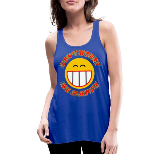 Be Happy - Women's Flowy Tank Top by Bella
