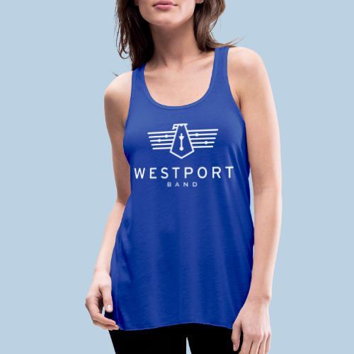 Westport Band White on transparent - Women's Flowy Tank Top by Bella