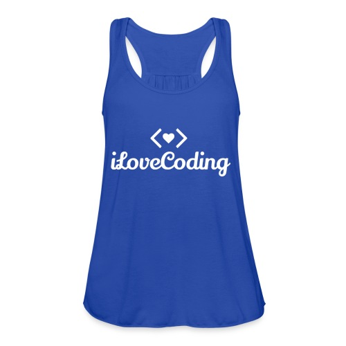 I Love Coding - Women's Flowy Tank Top by Bella