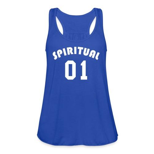 Spiritual 01 - Team Design (White Letters) - Women's Flowy Tank Top by Bella