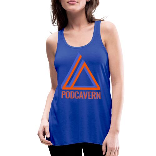 PodCavern Logo - Women's Flowy Tank Top by Bella