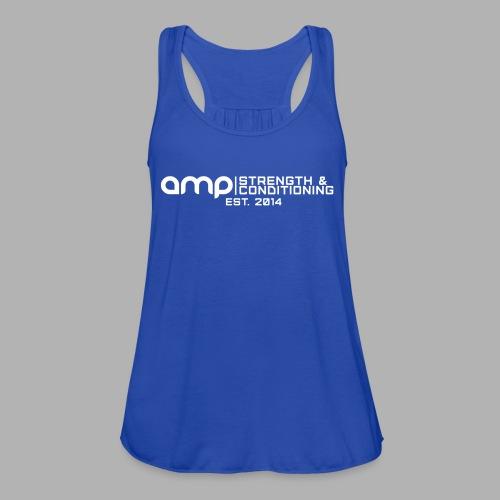 AMP Long Logo EST WHT - Women's Flowy Tank Top by Bella