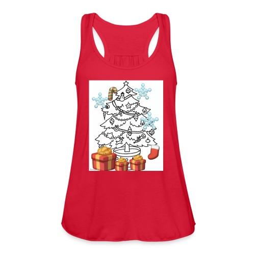 Christmas is here!! - Women's Flowy Tank Top by Bella