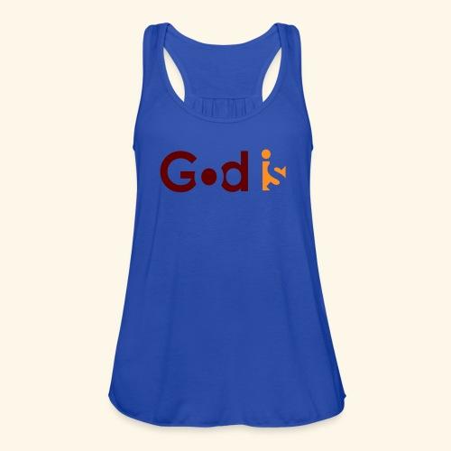 GOD IS #5 - Women's Flowy Tank Top by Bella