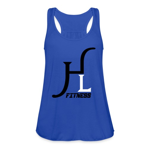HIIT Life Fitness logo white - Women's Flowy Tank Top by Bella