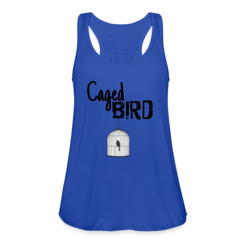 Caged Bird Abstract Design - Women's Flowy Tank Top by Bella