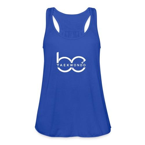 Logo emblem WHITE no bg - Women's Flowy Tank Top by Bella