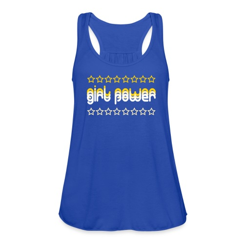 girl power - Women's Flowy Tank Top by Bella