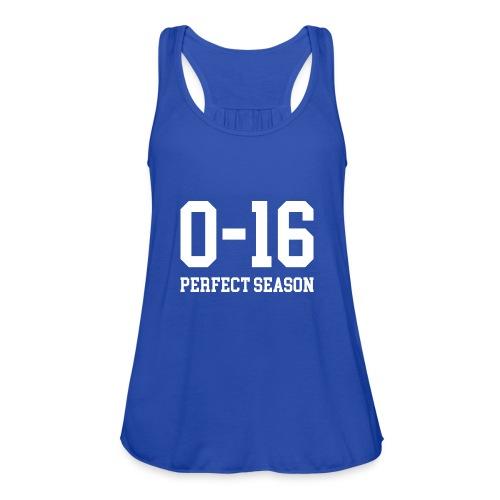 Detroit Lions 0 16 Perfect Season - Women's Flowy Tank Top by Bella