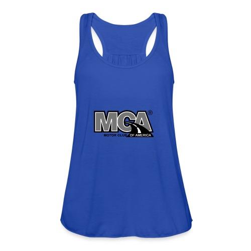 MCA Logo WBG Transparent BLACK WHITE TITLEfw fw pn - Women's Flowy Tank Top by Bella